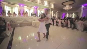 新郎新婦がお祝いに来てくれた人たちの為に踊ったサプライズダンスが素敵