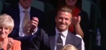 David Beckham Catches Rogue Tennis Ball at Wimbledon VIDEO   YouTube