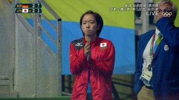 リオ五輪で退場処分となった石川佳純選手が場外で応援している姿が微笑ましいと話題に