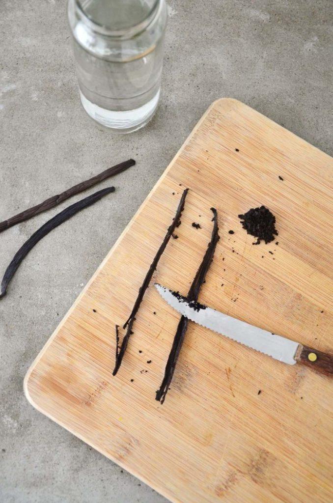 Favo de baunilha cortado