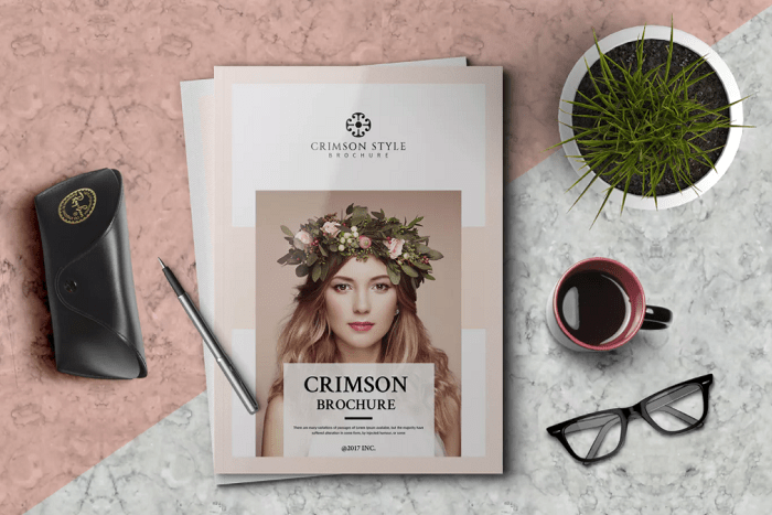 23 Interesting Brochure Designs for your Business   TemplateByte Crimson Brochure Template