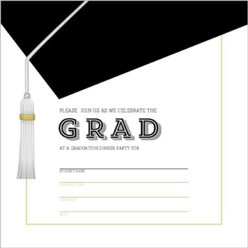Medium Crop Of Graduation Invitation Templates