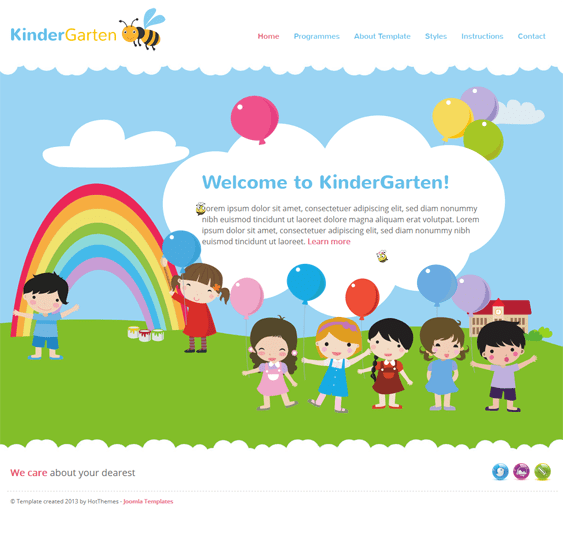 kindergarten kids joomla templates