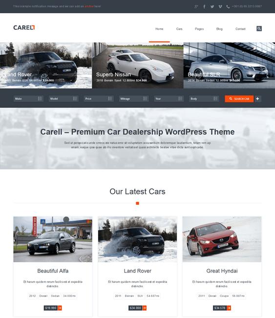 carell car dealership wordpress themes