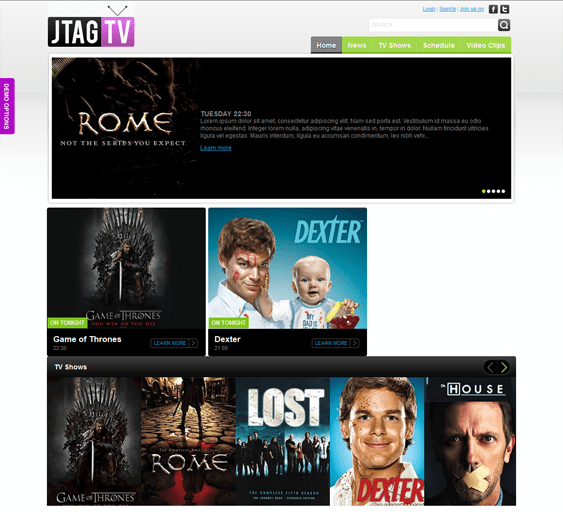 jtag tv joomla template