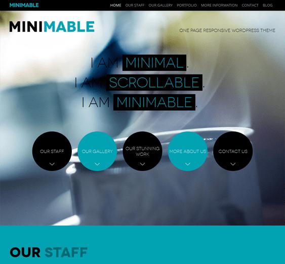 minimable free one page wordpress theme