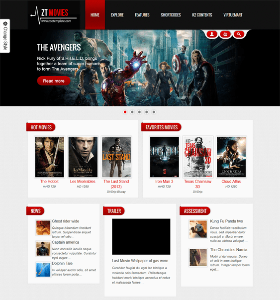 zt movie joomla template