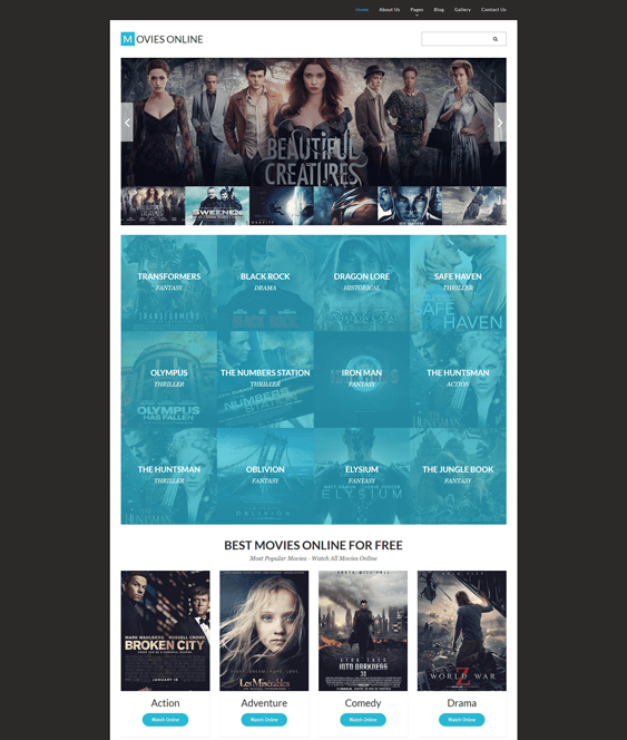 movie tv joomla template
