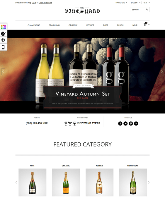 vineyard food drink restaurant opencart themes