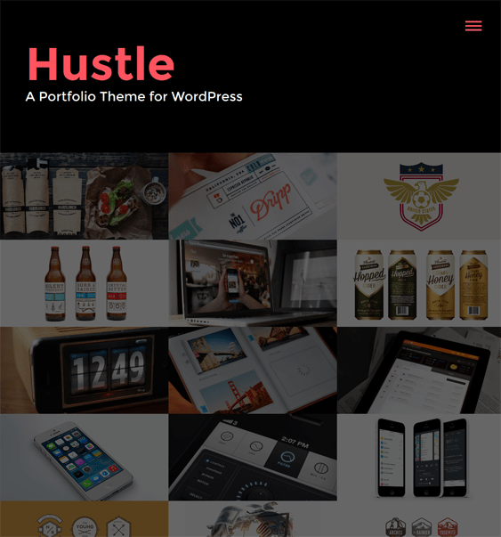 hustle dark wordpress theme