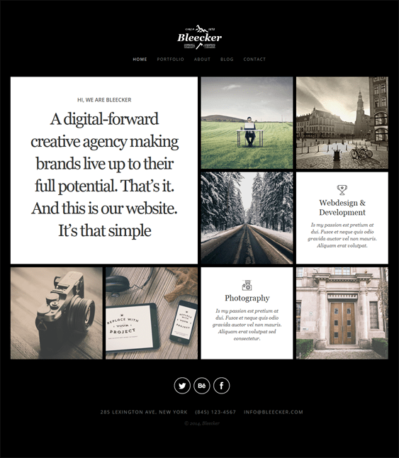 bleecker dark wordpress theme