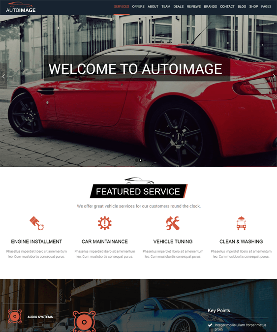 auto image car dealership wordpress theme