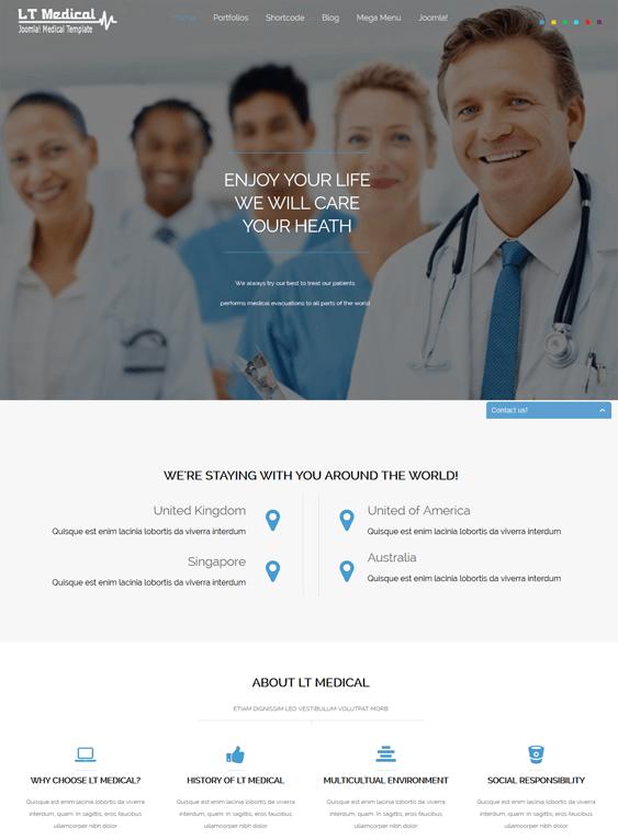 lt medical joomla template