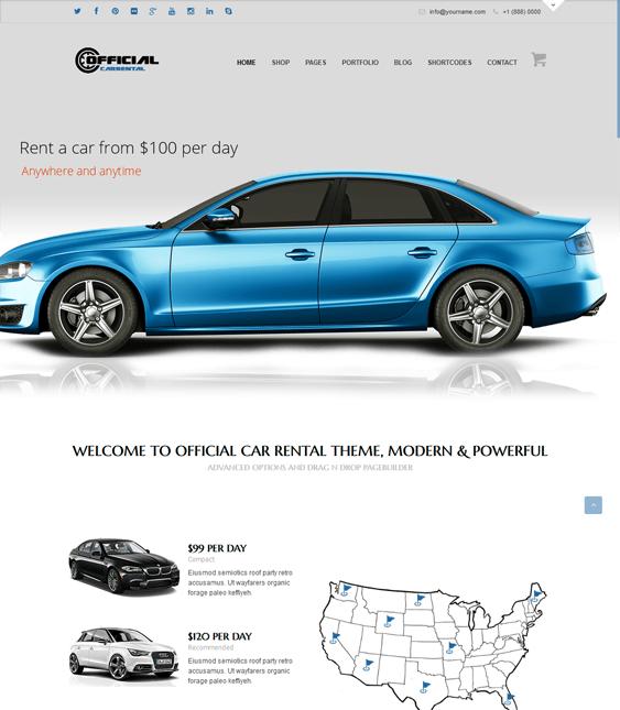 official car vehicle automotive wordpress theme