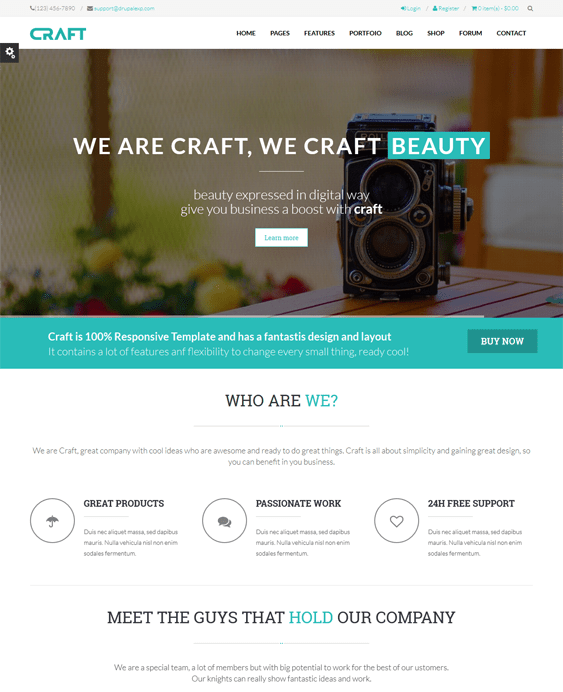 craft parallax drupal theme