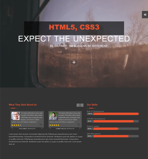 exception parallax drupal theme