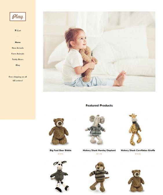 pop toy free minimal shopify theme