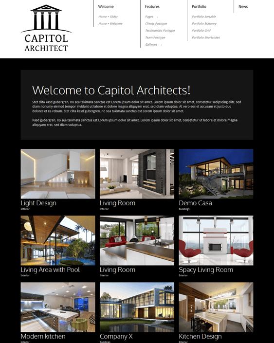 capitol architect wordpress theme