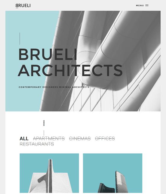 brueli architect wordpress theme