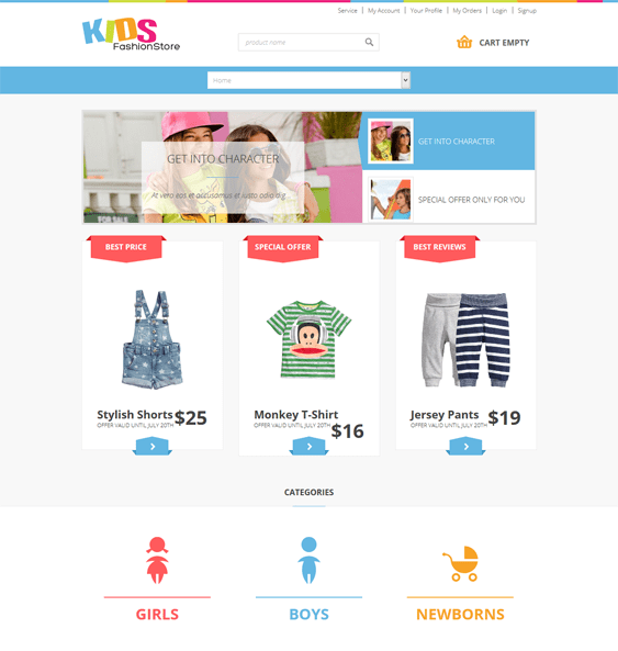 jm kids virtuemart joomla theme