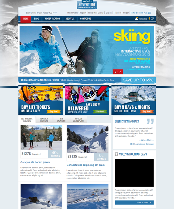 ot winter virtuemart joomla theme