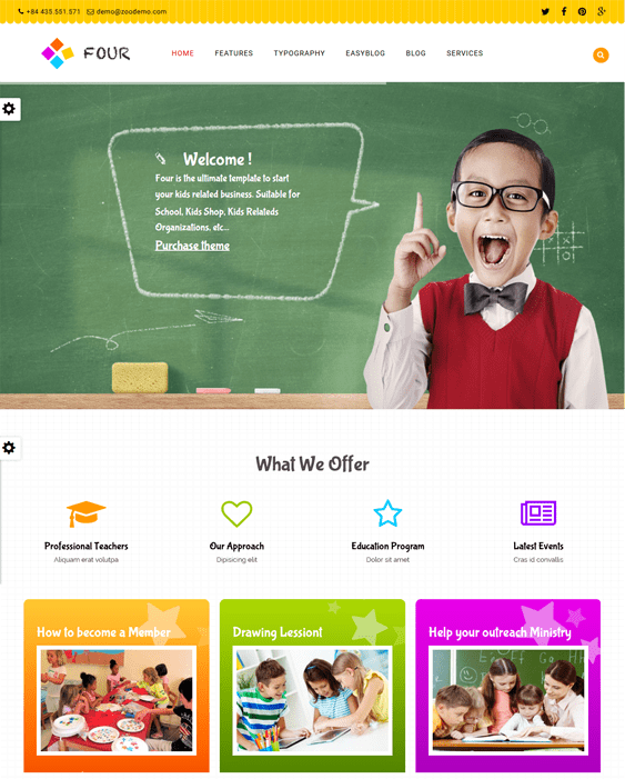 zt four education joomla templates