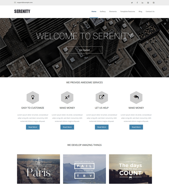 serenity business drupal themes