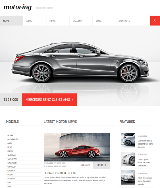 car club car vehicle automotive joomla templates