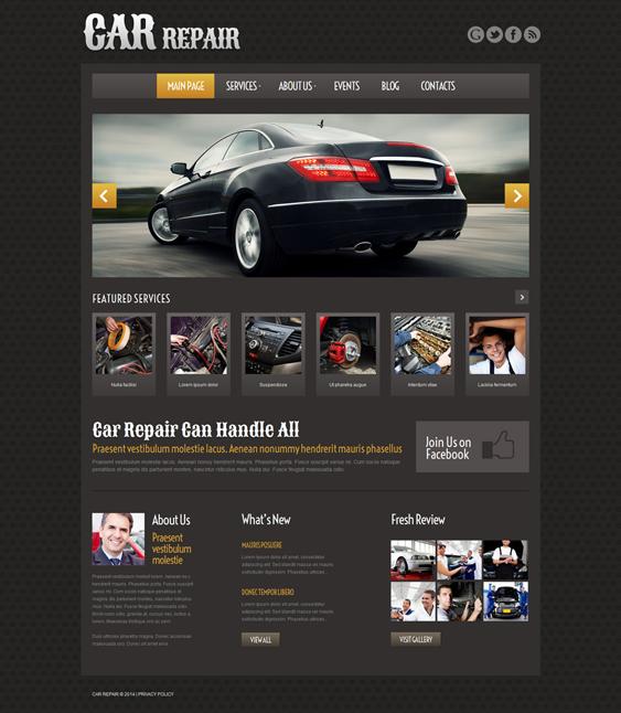 car car mechanic repair shop wordpress themes