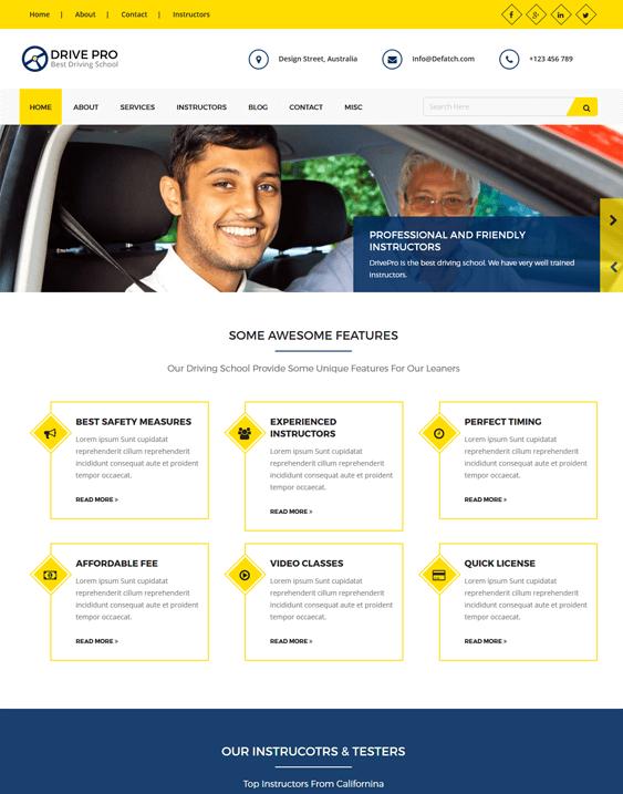 drive pro car vehicle automotive wordpress themes