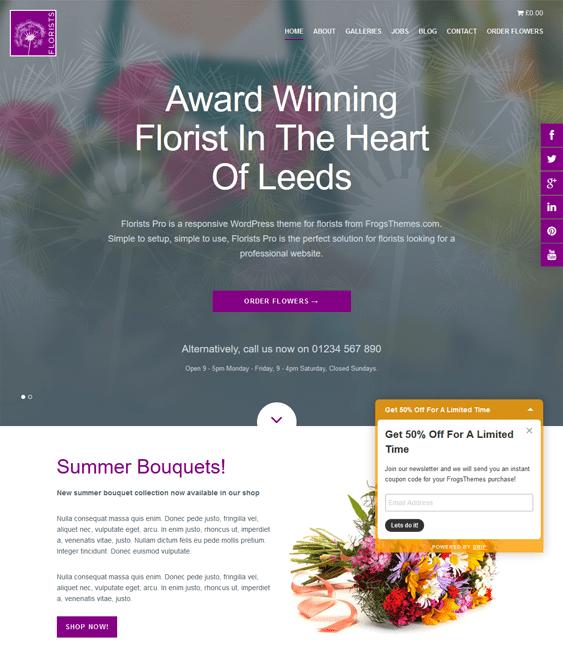 florists pro florist wordpress theme