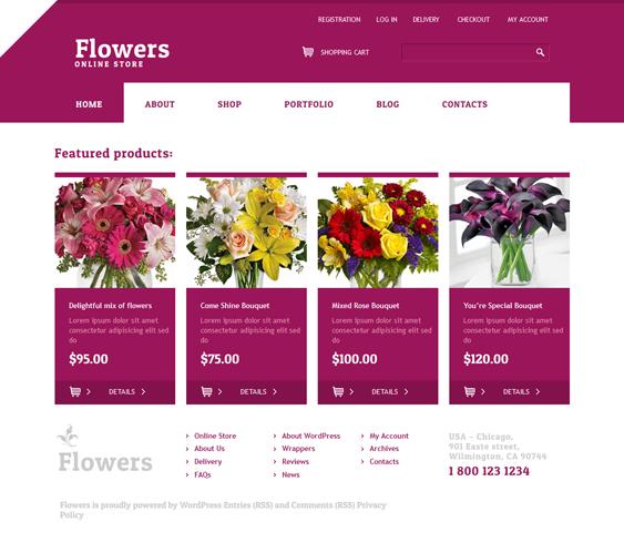 live florist wordpress theme