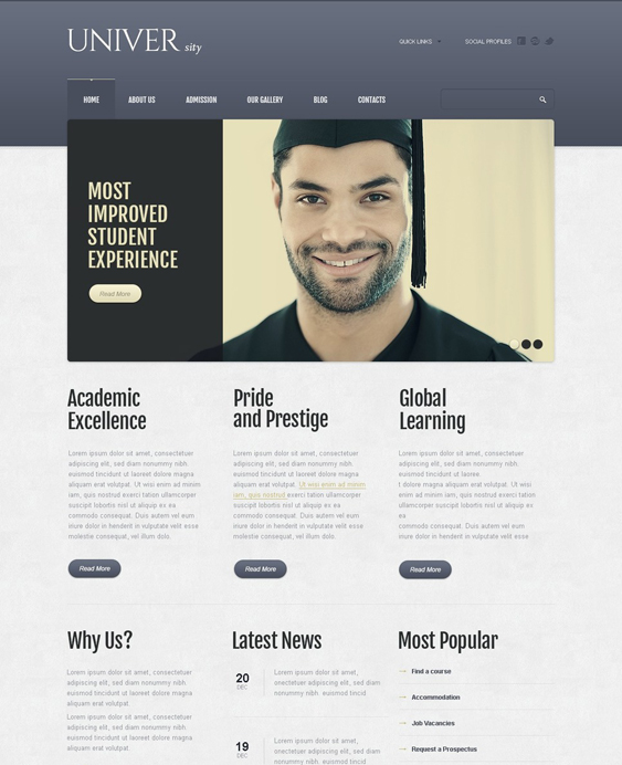 modern education drupal themes