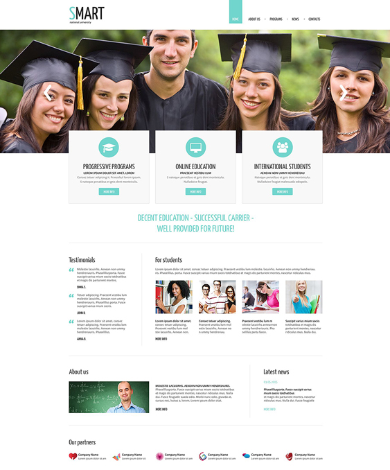 university education drupal themes