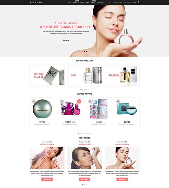 fragrance cosmetics beauty products shopify themes