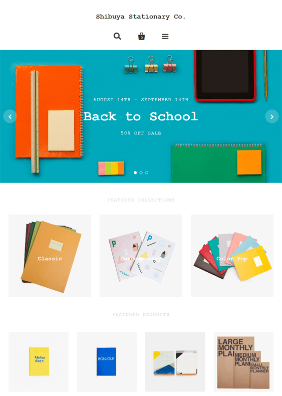 pacific stationery shopify themes