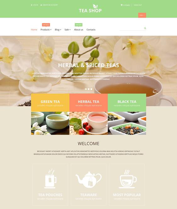 tea shop responsive shopify themes