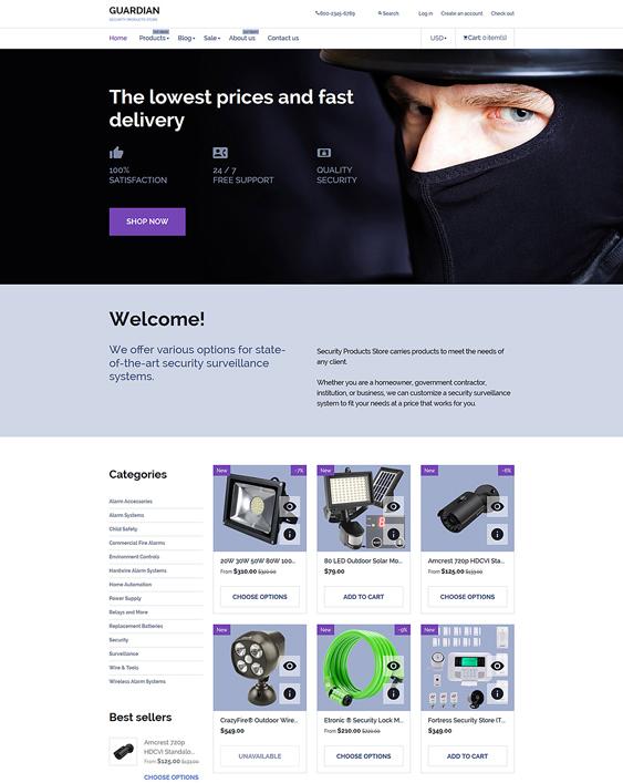 guardian electronics shopify themes