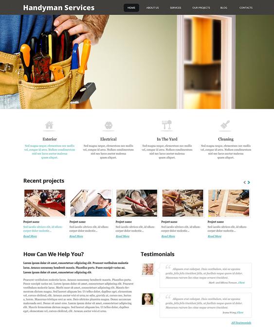 impressive handyman wordpress themes