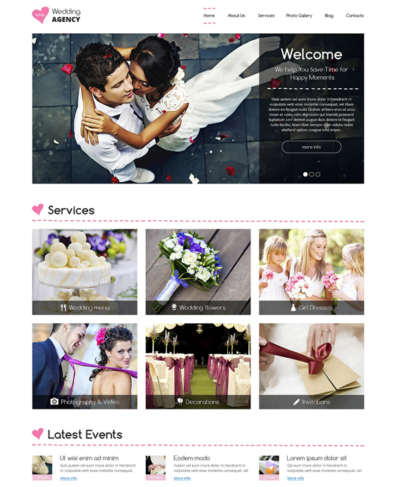 wedding drupal themes planner