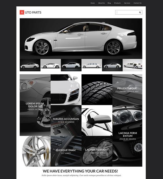 auto parts car vehicle automotive wordpress themes
