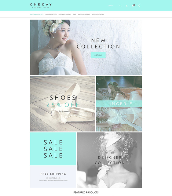 bridal wedding opencart themes