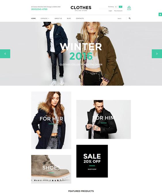 clothes minimal virtuemart themes