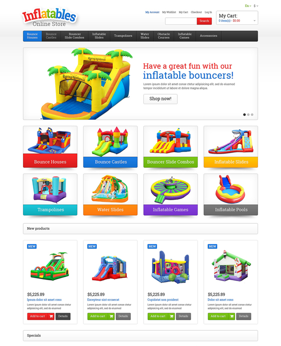 entertainment kids magento themes