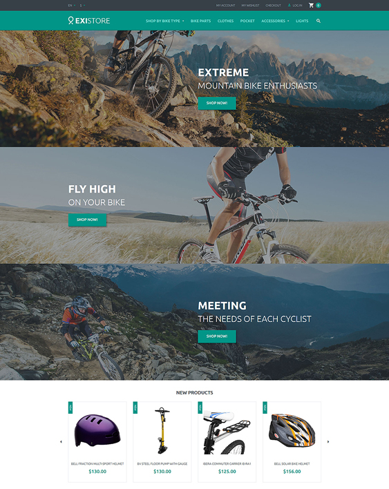 existore sports fitness magento themes