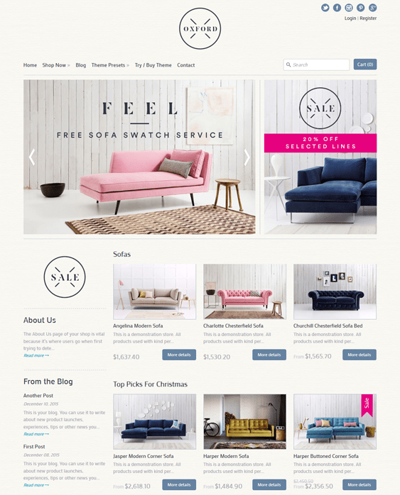 expression homewares furniture shopify themes