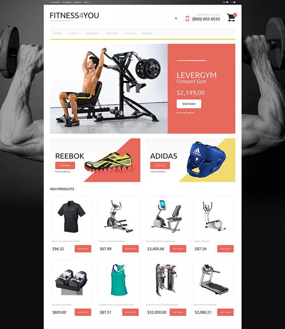 sports fitness magento themes