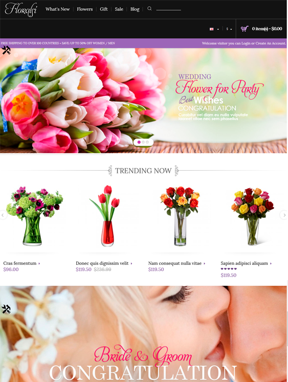 floralsi wedding opencart themes