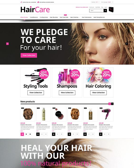 hair beauty magento themes care