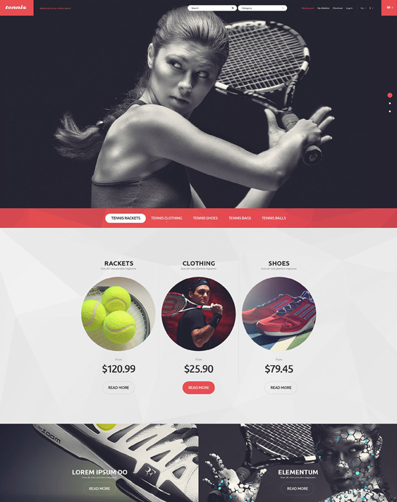 tennis sports fitness magento themes 1